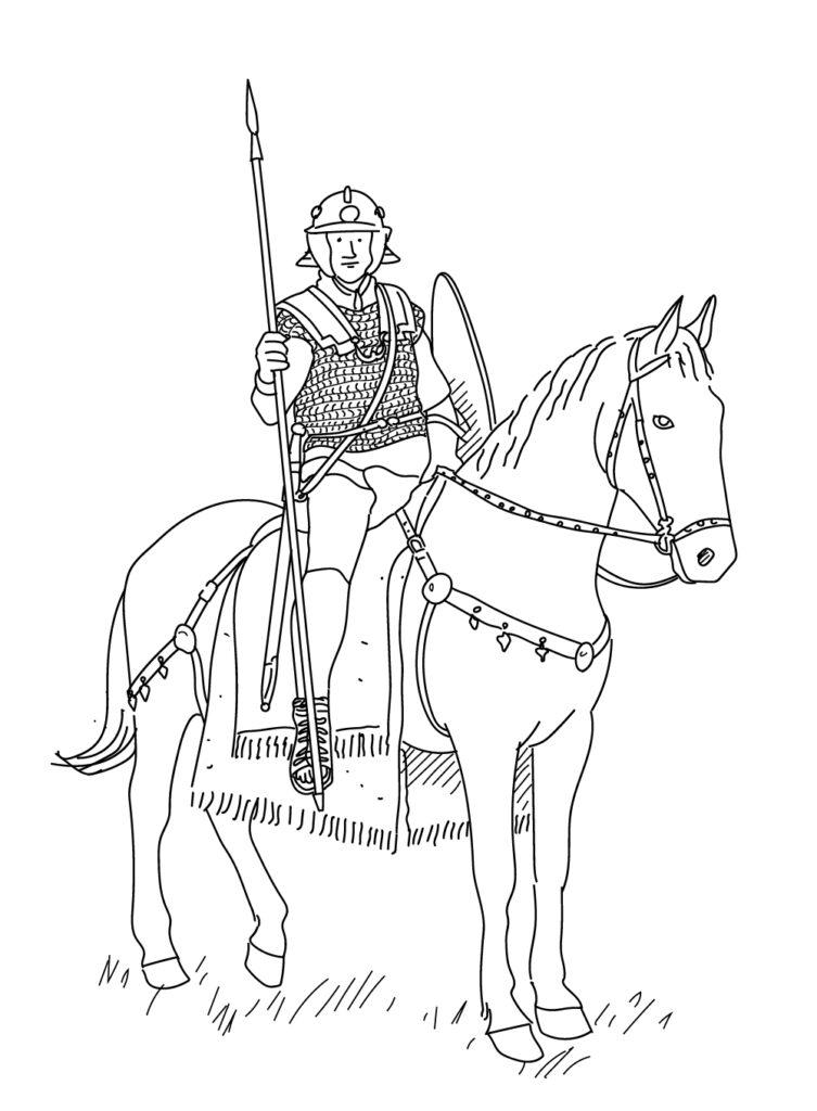 Cavalier romain - illustration